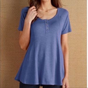 Soft Surroundings Lavender Stella T-shirt Size S